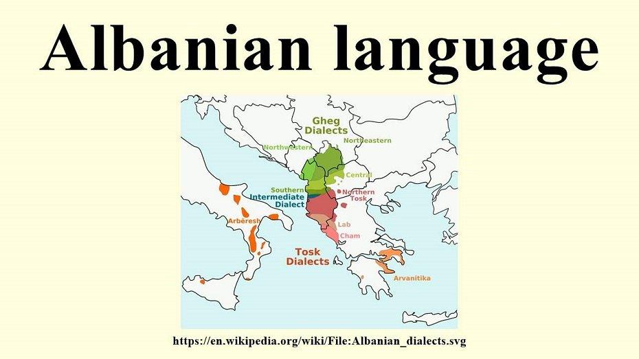 Dialetti della lingua albanese